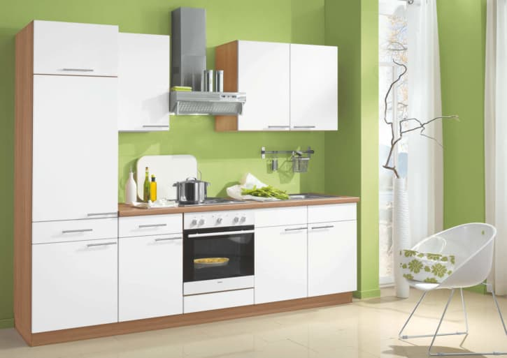 Weiße Perlstruktur Küchenzeile 1