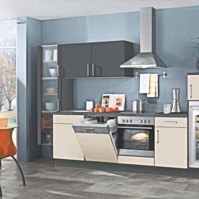 Küchenzeile matt Lack weiß 9
