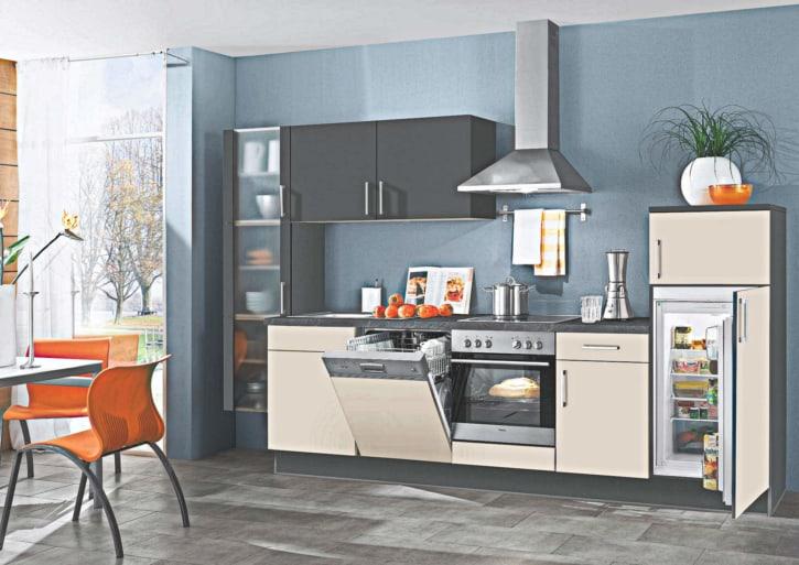 Küchenzeile matt Lack weiß 1