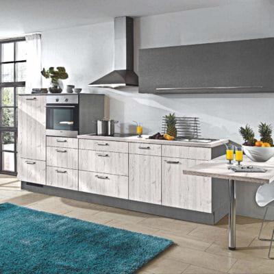 Skandinavische Eiche Hellgrau Küchenzeile 9
