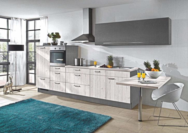 Skandinavische Eiche Hellgrau Küchenzeile 1