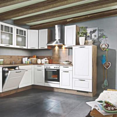 Landhaus L Küche Weiß Eiche 3