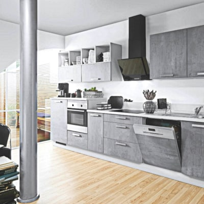 Graue Beton Küchenzeile 3