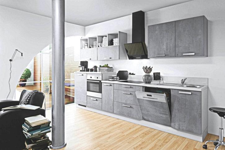 Graue Beton Küchenzeile 1