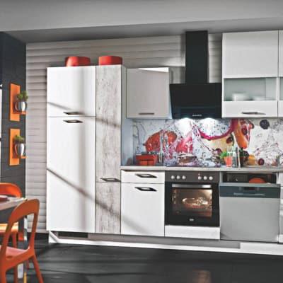 Weiße Beton Küchenzeile 15