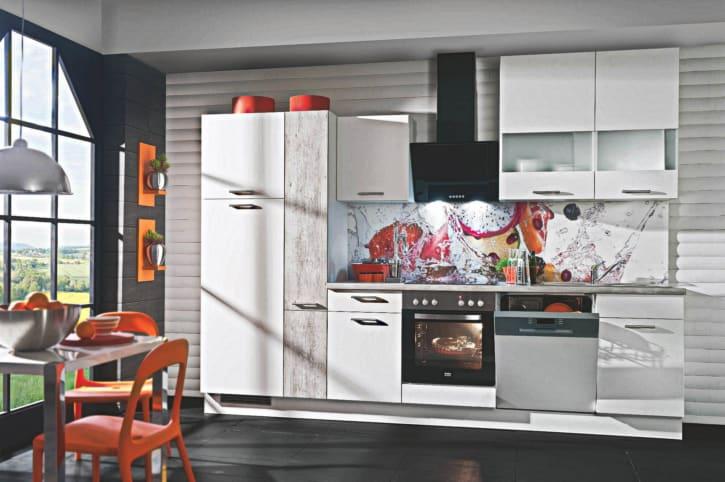 Weiße Beton Küchenzeile 1