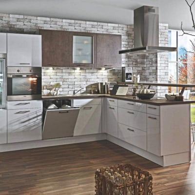 Polarweiß Kupferbronze L Küche 5