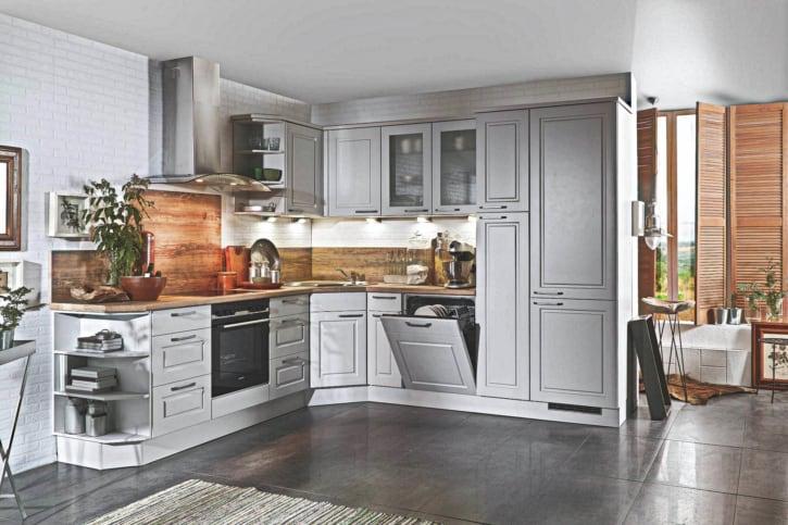 Landhaus L Küche Grau Arizona Pine 1