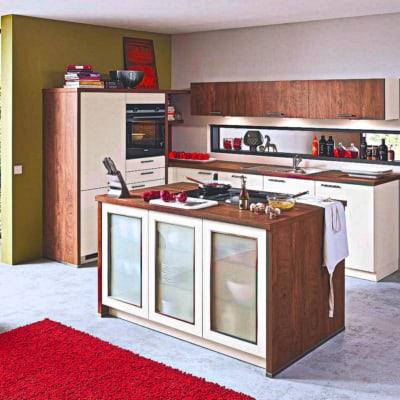 U Küche Insel Küchen Silk seidenmatt 7