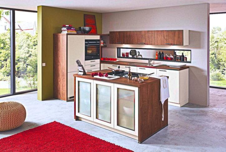 U Küche Insel Küchen Silk seidenmatt 1