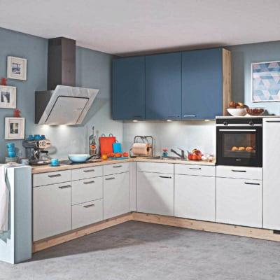 L Küche grau seidenmatt Islandahorn 15