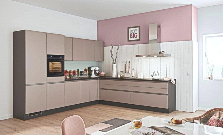 Rosé Schwarzgrau L Küche 1