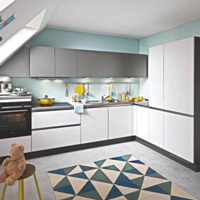Polarweiß Design L Küche 15