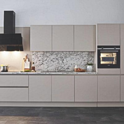 Sandbeige Seidenmatt Modern Küche 10