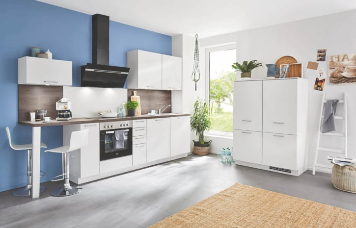 Kleine Seidengraue Küchenzeile 1