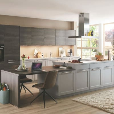 Moderne Steingraue Nobilia Landhausküche 11
