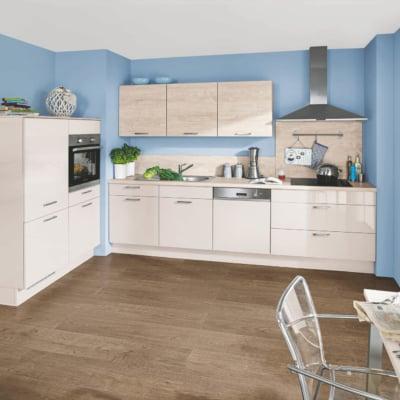 Moderne Lack Küche Sand Hochglanz 39