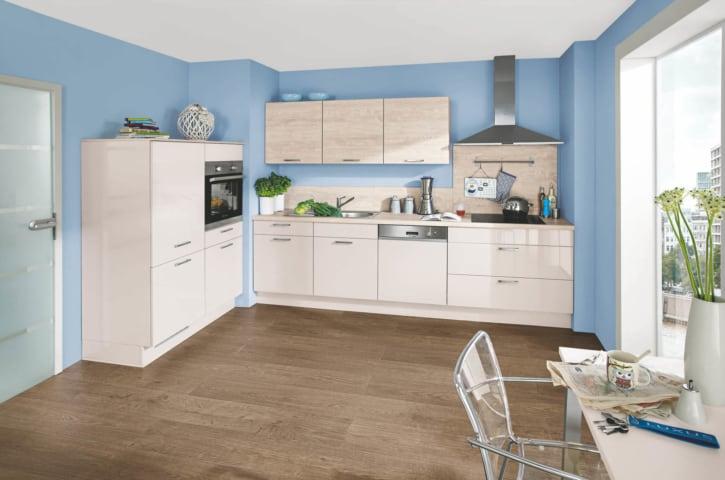 Moderne Lack Küche Sand Hochglanz 1