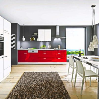 Rote Lack Küche Hochglanz 11