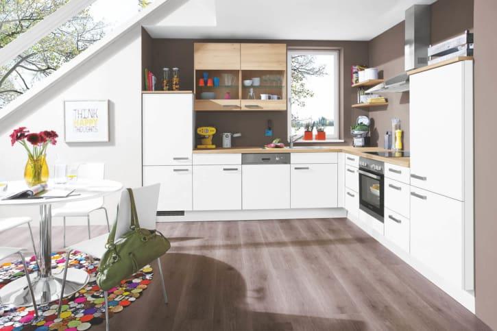 L Küche Weiß Lack 1