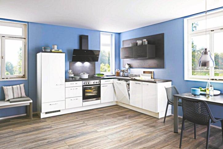 Weiß Hochglanz L Küche 1