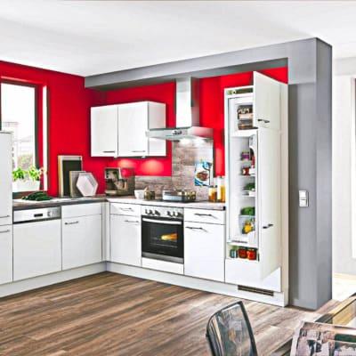 L Küche matt Lack Seidengrau 23