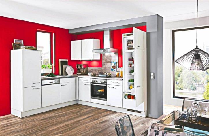 L Küche matt Lack Seidengrau 1