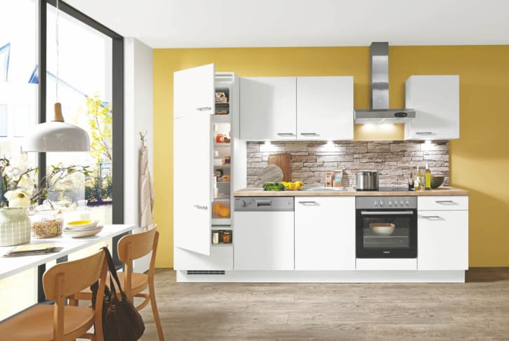 Kleine Küche Lack weiß matt 1