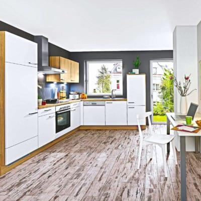 Kleine L Küche Lack Eiche 13