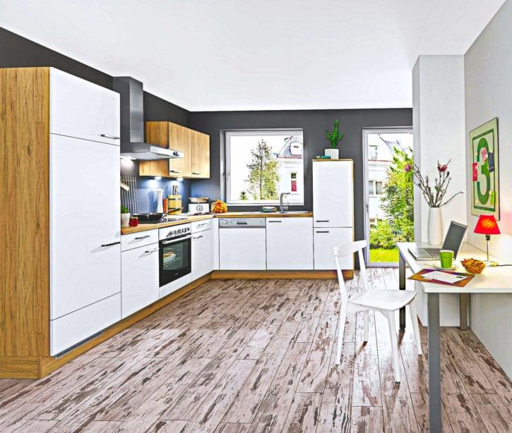 Kleine L Küche Lack Eiche 1