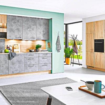L Küche Keramik grau 5