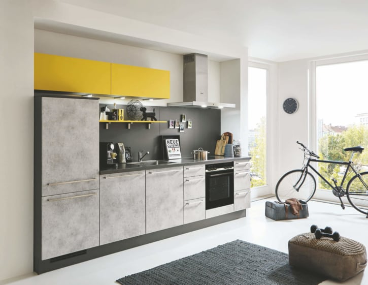 Küchenzeile Beton Grau 1