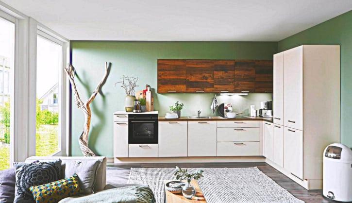 L Küche Lack matt Magnolie 1