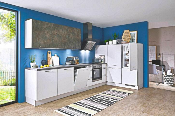 Kleine L Küche Lack matt 1