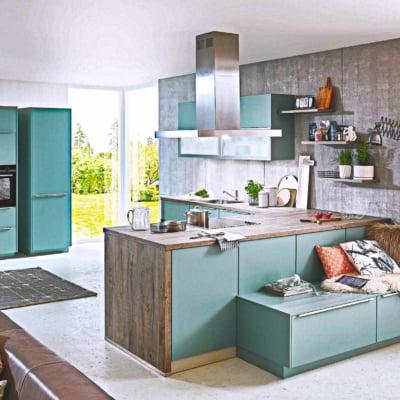 U Küche Aqua Farbe 15