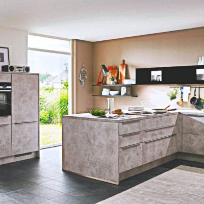 G Küche Keramik Grau 14