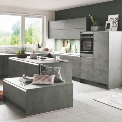 Beton Küche schiefergrau 29