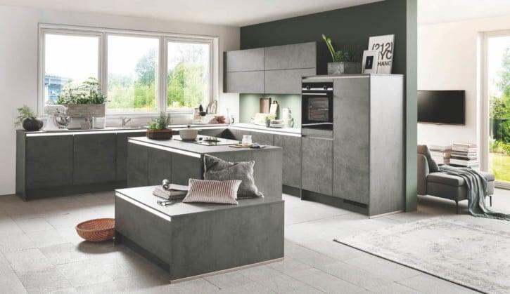 Beton Küche schiefergrau 1