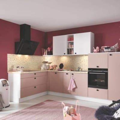 Burger kleine L Küche in Pink 71