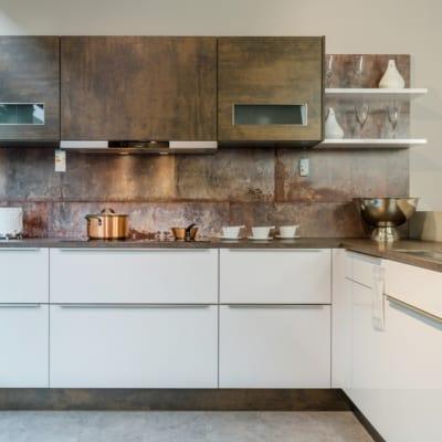 Nolte L Küche Weiß Kupfer Oxid Optik