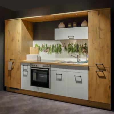Impuls Küchenzeile Vintage Eiche Weiß 6