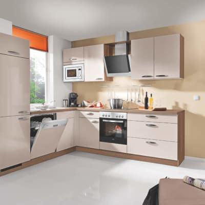 L Küche Lack matt Sand 37