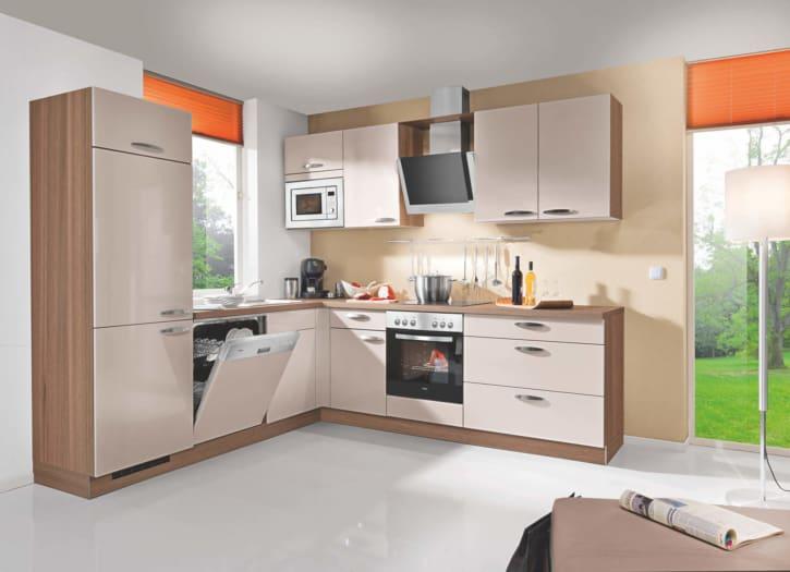 L Küche Lack matt Sand 1