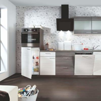Eichen Weiß Grau Lack Küchenzeile 29