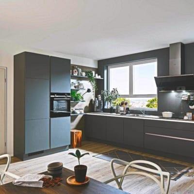 Edle Graue Moderne L Küche 33