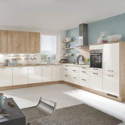 Große L Küche Magnolie Eiche 31