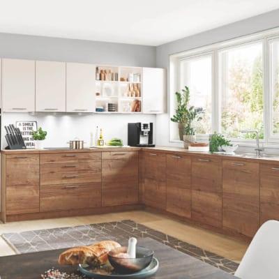 Große Magnolien Eichen L Küche 17