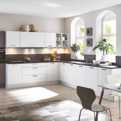 Große Schwarz Weiße Eichen L Küche 31