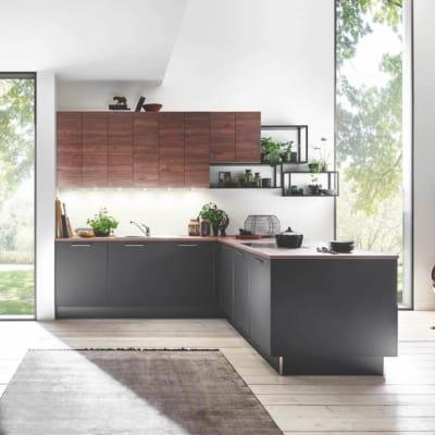 Große Schwarze Nussbaum U Küche 27