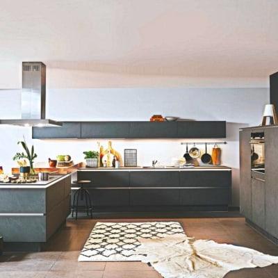 Große U Küche Grauschiefer 15